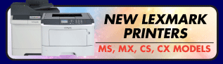New Lexmark Printers now available - Click here to view range