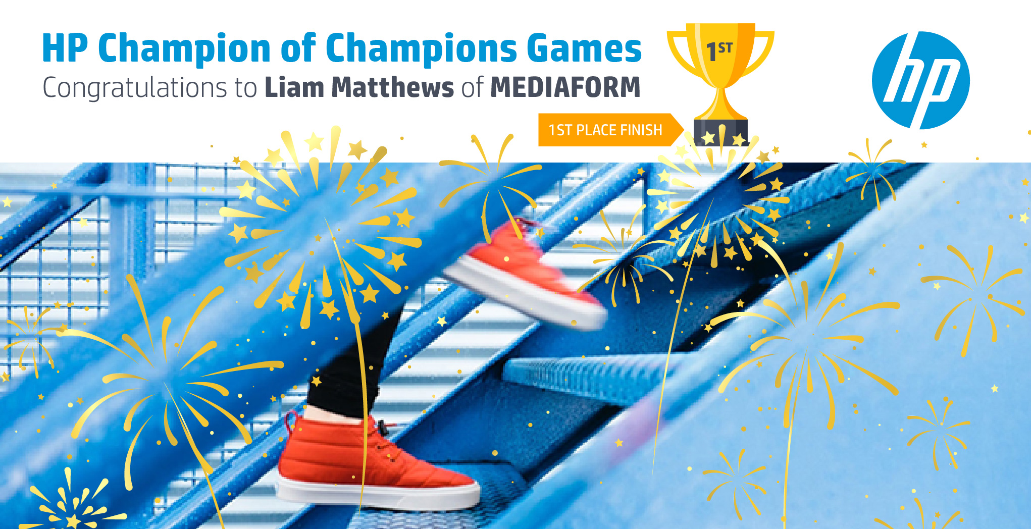 Winner of the Champion of Champion Games: Liam Matthews of MediaForm