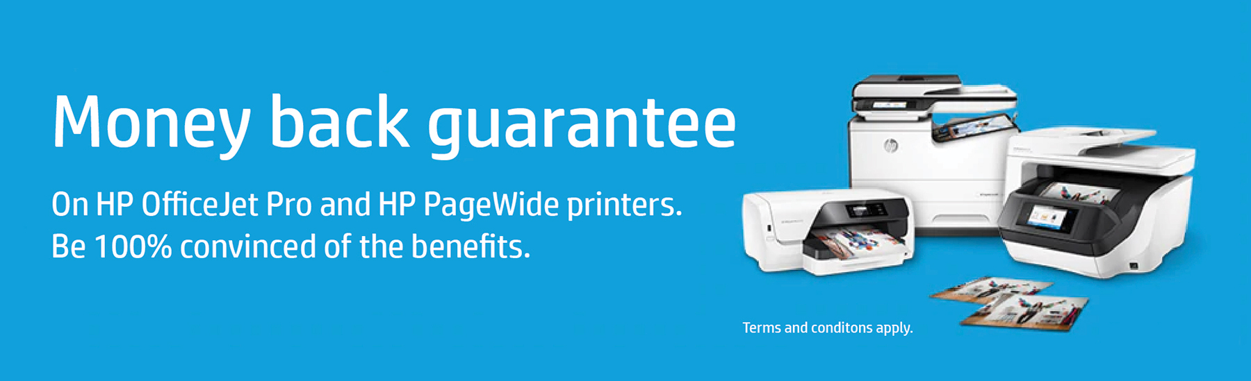 HP OfficeJet & Pagewide Money Back Guarantee