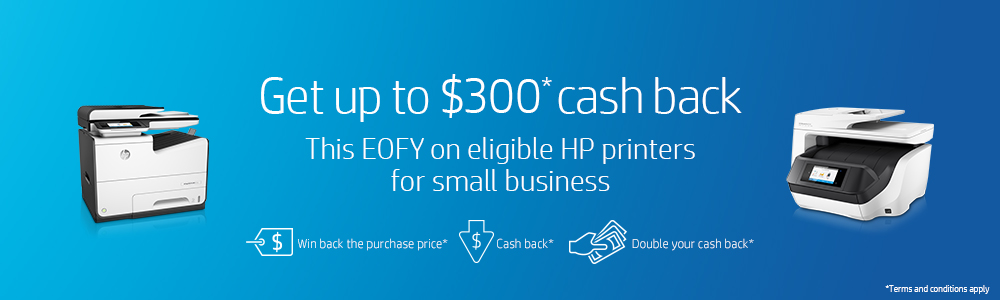 HP EOFY - Get up to $300 Cash Back & Win