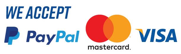 We accept payments via Paypal, Mastercard, VISA